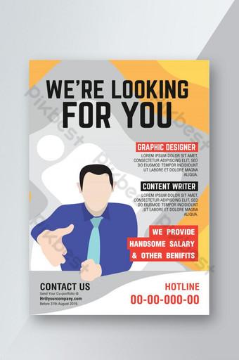 Nous embauchons un dépliant d'emploi et de recrutement Modèle AI
