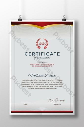 Modèle de certificat officiel Modèle AI
