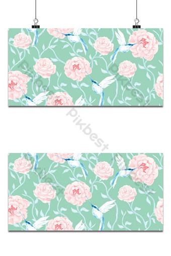 pintura de patrones sin fisuras de rosa con fondo de acuarela Fondos Modelo PSD