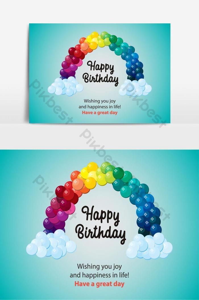 yếu tố đồ họa vector bóng bay chúc mừng sinh nhật