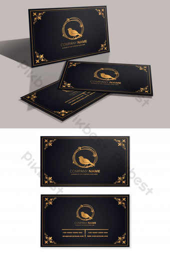 Modèle de conception de carte de visite de luxe Modèle PSD