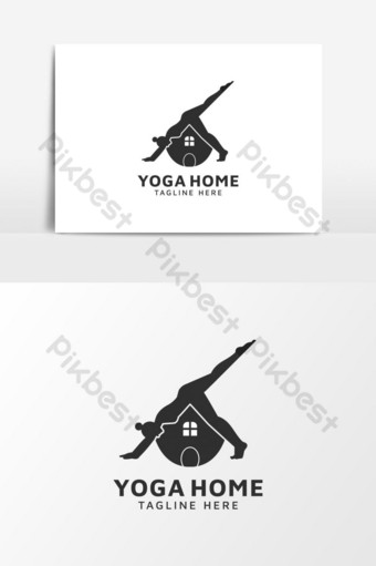 icono del logo de yoga Elementos graficos Modelo EPS