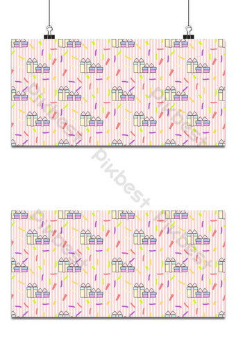 vector de patrones sin fisuras de hermosas cajas de regalo fondo rosa pastel Fondos Modelo EPS