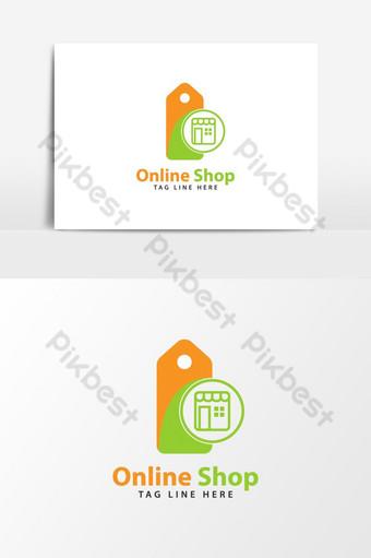 icono de logotipo de tienda online UI Modelo AI