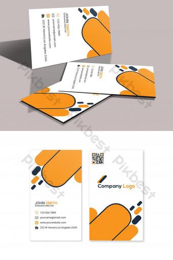 Modèle de conception de carte de visite unique Modèle PSD