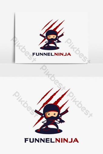 embudo ninja logo elemento gráfico Elementos graficos Modelo AI