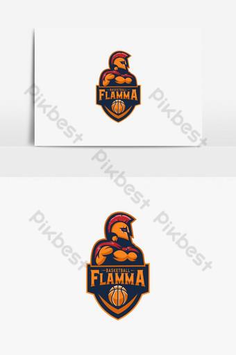 elemento gráfico del logo del equipo de baloncesto Elementos graficos Modelo AI
