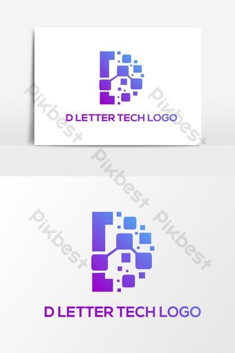 elemento gráfico de logotipo de tecnologia d Elementos gráficos Modelo AI
