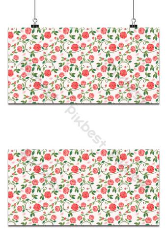 patrón sin fisuras con hermosa rosa en el fondo de color vintage Fondos Modelo AI