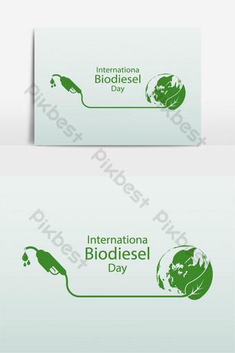 día internacional del biodiesel 10 de agosto para elemento gráfico de vector de ecolog Elementos graficos Modelo EPS
