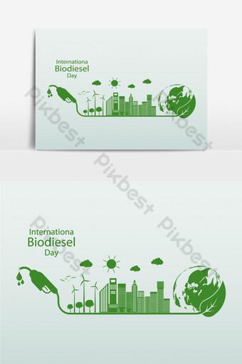 elemento gráfico de vector de tema del día internacional del biodiesel Elementos graficos Modelo EPS