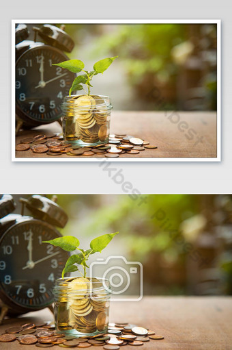 Time and Money Photo Template JPG