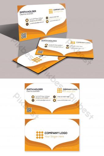 tarjeta de visita de forma de amor de color dorado Modelo PSD
