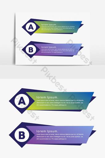 diseño minimalista creativo colorido vector png banners elemento gráfico Elementos graficos Modelo PSD