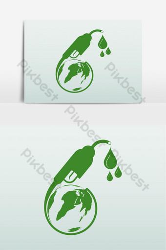 elemento gráfico de vector de tema del día 10 del biodiésel Elementos graficos Modelo EPS