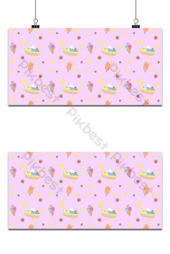 patrón sin costuras colorido lindo helado de fondo Fondos Modelo EPS