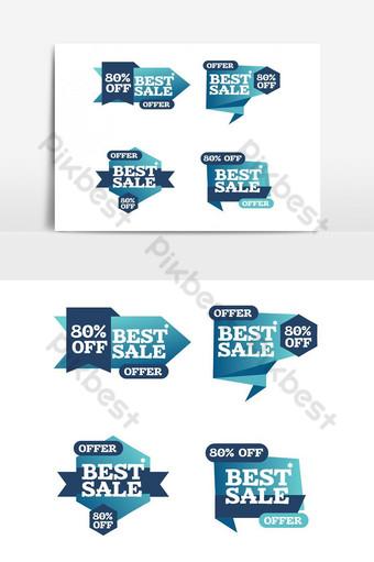 colorido, limpio, creativo, publicidad, cinta, arte, elementos gráficos Elementos graficos Modelo PSD