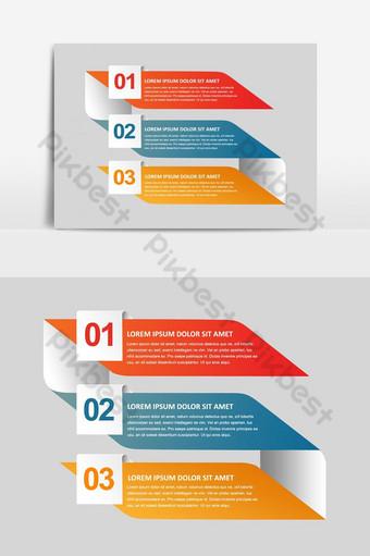 elemento gráfico de infografía mínima creativa colorido vector art Elementos graficos Modelo PSD