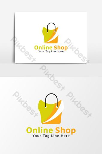elemento gráfico del icono del logotipo de la tienda online Elementos graficos Modelo AI