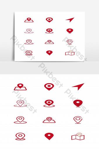 conjunto de elementos gráficos de iconos de ubicación Elementos graficos Modelo EPS