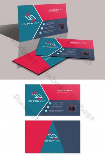 plantilla de tarjeta de visita creativa de tres formas psd Modelo PSD