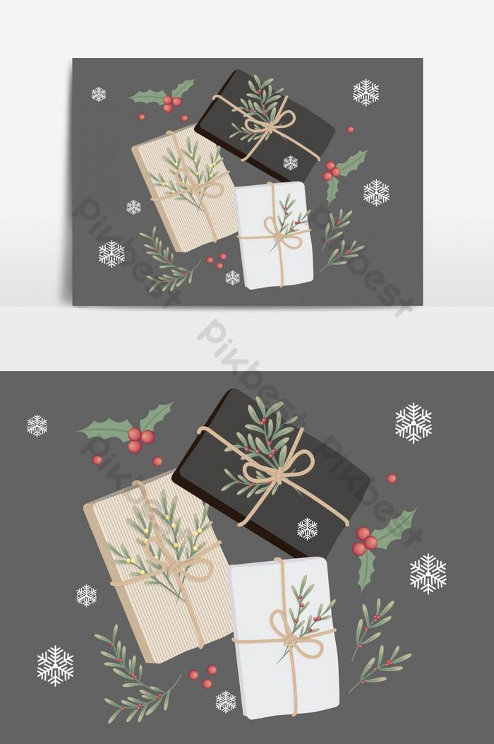 christmas gifts vector graphic element