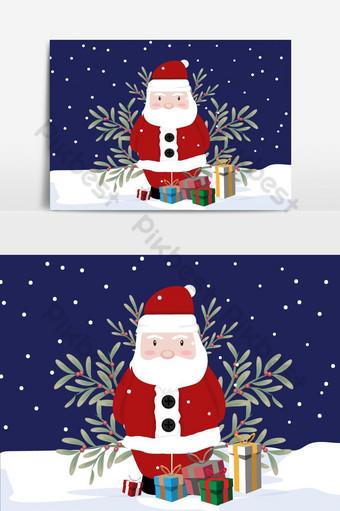 navidad santa en elemento gráfico de vector de día nevado Elementos graficos Modelo AI