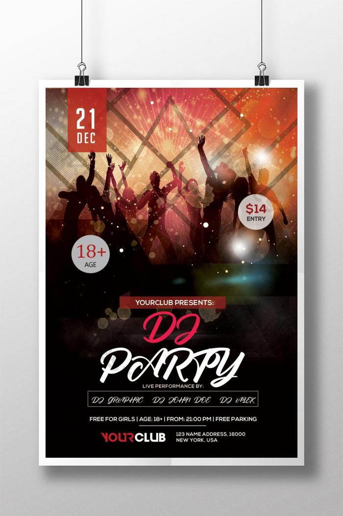dj party song poster