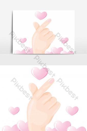 elemento gráfico de vector de dedo mini corazón Elementos graficos Modelo EPS