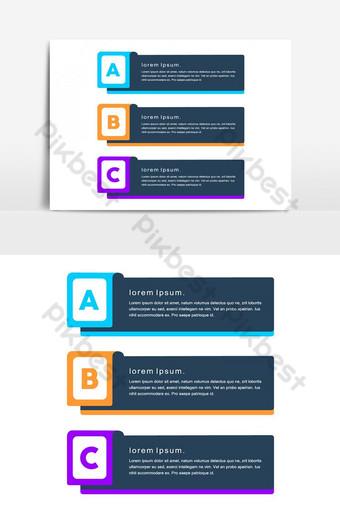 warna-warni kreatif dirancang vektor png elemen grafis minimal Elemen Grafis Templat PSD