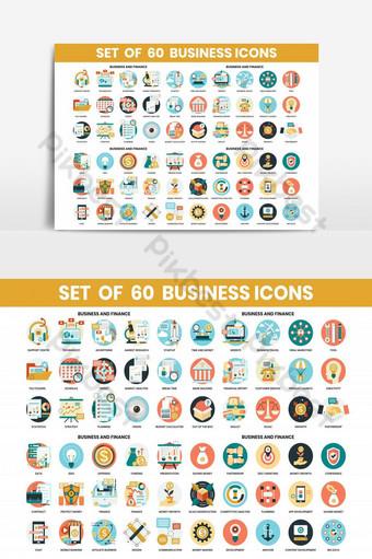 iconos de negocios establecidos para el elemento gráfico empresarial Elementos graficos Modelo AI