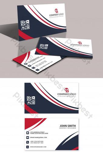 Carte de visite d'entreprise Simple et élégante Modèle PSD