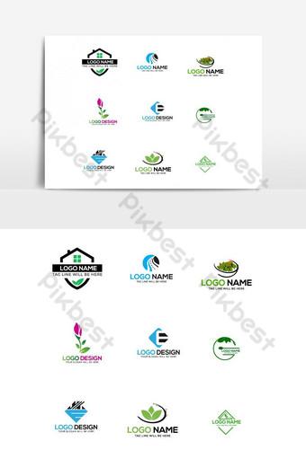 Vector set logo design bundle Vector Graphic Element PNG Images Template AI