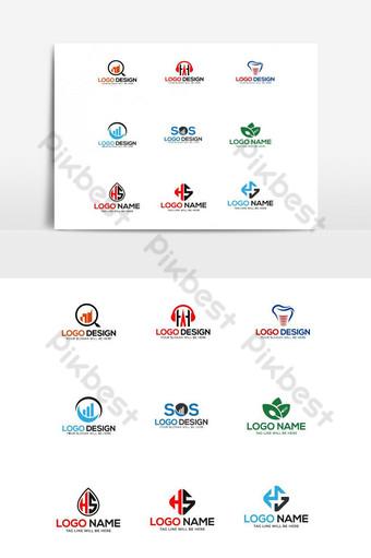 Vector set logo design template bundle Vector Graphic Element PNG Images Template AI