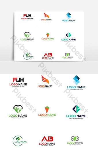 elemento gráfico de vector de paquete de plantilla de diseño de logotipo Elementos graficos Modelo AI