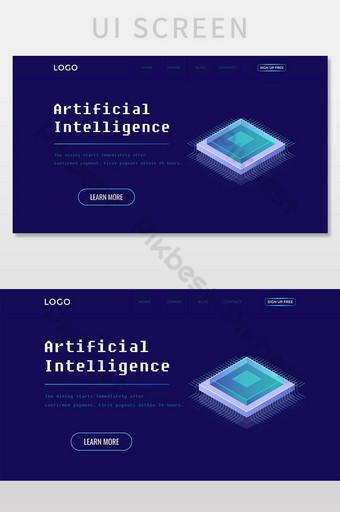 Advanced Technology Website Landing Page UI Screen UI Template PSD