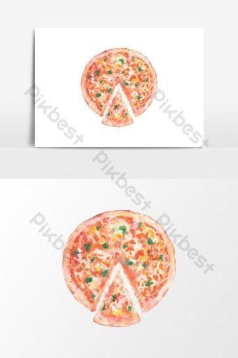 elemento gráfico acuarela pizza clip art Elementos graficos Modelo PSD