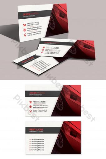 Conception de carte de visite de location de voiture Modèle PSD
