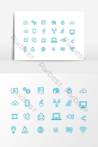 conjunto de elementos gráficos de icono de paquete de iconos Elementos graficos Modelo AI