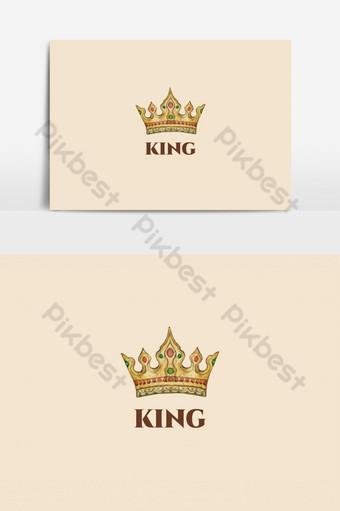 elementos gráficos de plantilla de diseño de logotipo de rey Elementos graficos Modelo AI