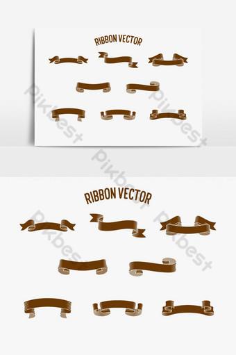 cinta vector diseño elementos gráficos decorativos Elementos graficos Modelo AI