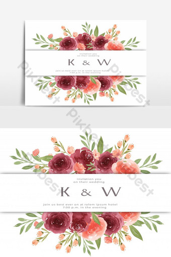 سعيد بطاقة زفاف بطاقة دعوة حديقة الأزهار عنصر الزواج صور PNG قالب AI