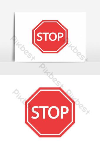 elemento gráfico de vector de señal de stop Elementos graficos Modelo EPS