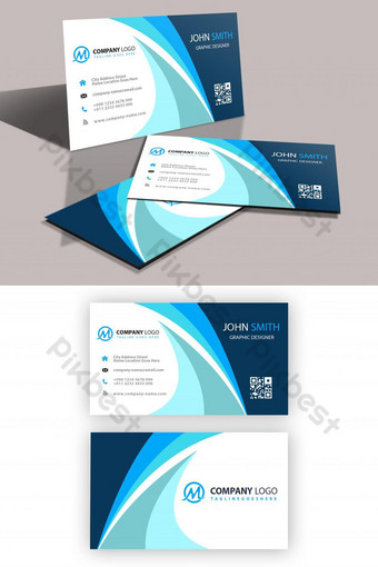 plantilla de tarjeta de visita Modelo PSD