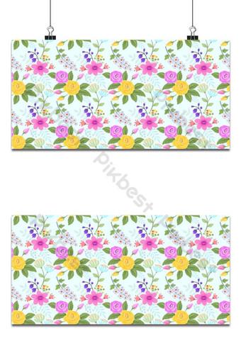Rosa y flores de patrones sin fisuras tela textil fondo Fondos Modelo AI