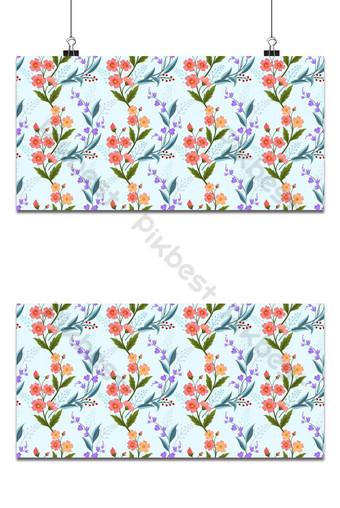 Patrón sin costuras de flores naranjas y púrpuras para el fondo de textiles de tela Fondos Modelo AI