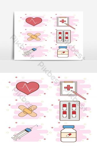 أجبر العظم، بسبب، المعدات الطبية، عزل عزل، على أبيض، الخلفية، ضمادة، معدل ضربات القلب، دواء، حبة صور PNG قالب EPS
