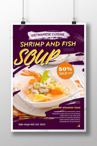 poster giảm giá công thức nấu ăn việt nam Bản mẫu PSD