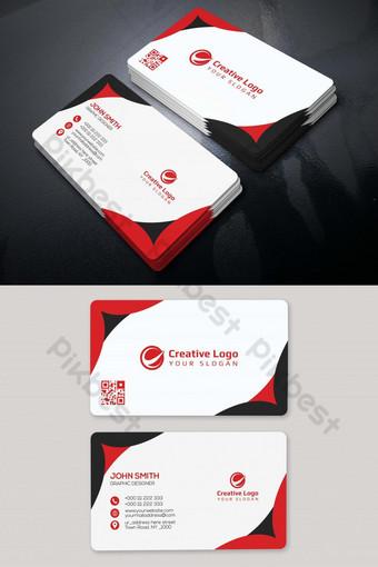 Conception de modèle de carte de visite unique rouge Modèle PSD