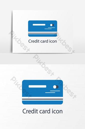 elemento gráfico de vector de icono de tarjeta de pago Elementos graficos Modelo AI
